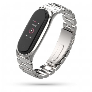 Opaska Mi Band 5 Tech-Protect Stainless Srebrna