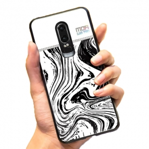 Mofi Glass Back Cover Oneplus 6T White Background