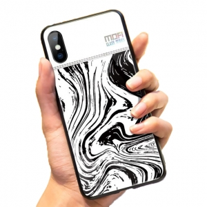 Mofi Glass Back Cover iPhone XR White Background