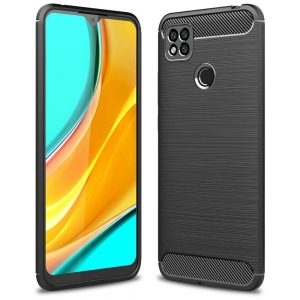 Carbon Case Etui do Xiaomi Redmi 9C Czarne