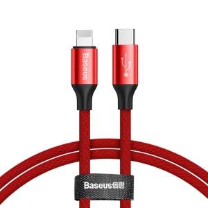 Baseus Yiven USB-C / Lightning 2A 1M CATLYW-C09 RED
