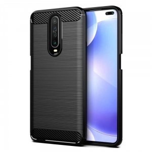 Carbon Case Etui do Xiaomi Redmi K30 Czarne