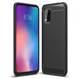 Carbon Case Etui do Xiaomi Mi 10 Lite Czarne
