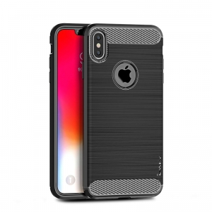 Etui Ipaky Drawing Carbon Iphone XS Max Czarne