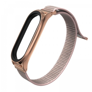 Opaska Mi Band 5 Tech-Protect Nylon Rose Gold