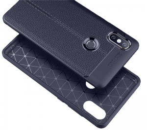 Etui Ipaky Leather Case Xiaomi Mi Max 3 Granatowe