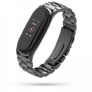 Opaska Mi Band 5 Tech-Protect Stainless Czarna